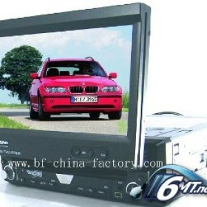 Car Multimedia 7 inch In Dash Car DVD Player with Detachable front panel