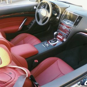 Sick Red Monoco leather interior